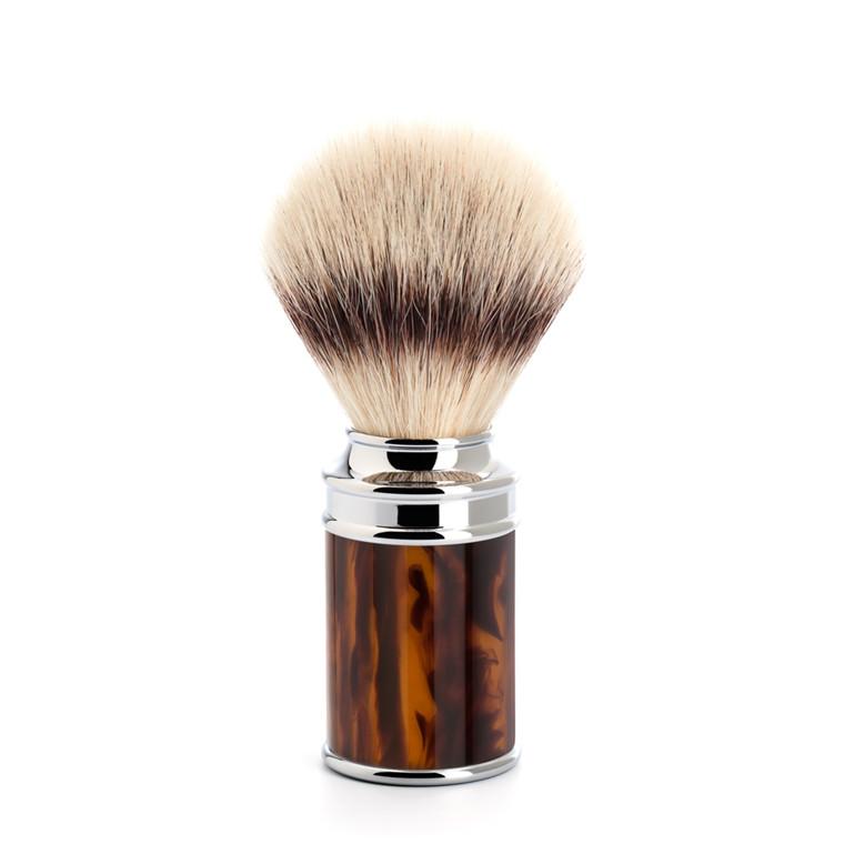 Mühle Silvertip Fibre® Barberkost, 21 mm, imit. skildpaddeskjold