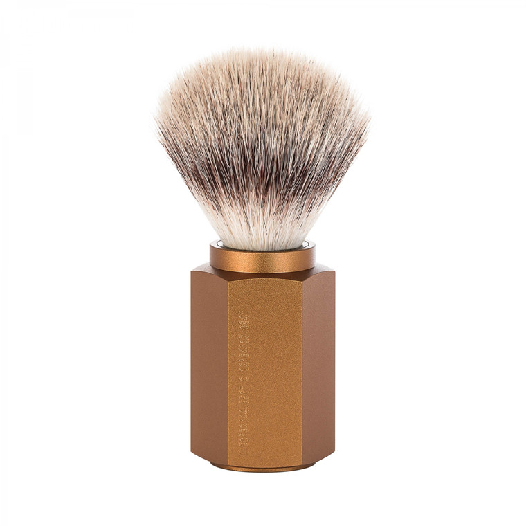 Mühle x Mark Braun Silvertip Fiber® Barberkost, 21 mm, Hexagon, Aluminium Bronze