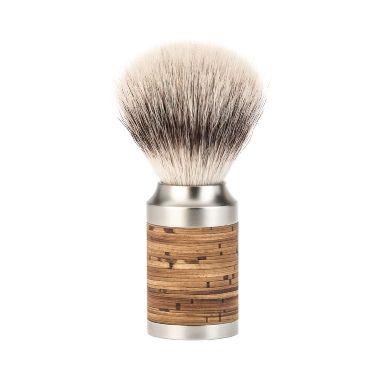 Mühle Silvertip Fiber® Barberkost, 21 mm, Rocca, Rustfrit stål & Birkebark