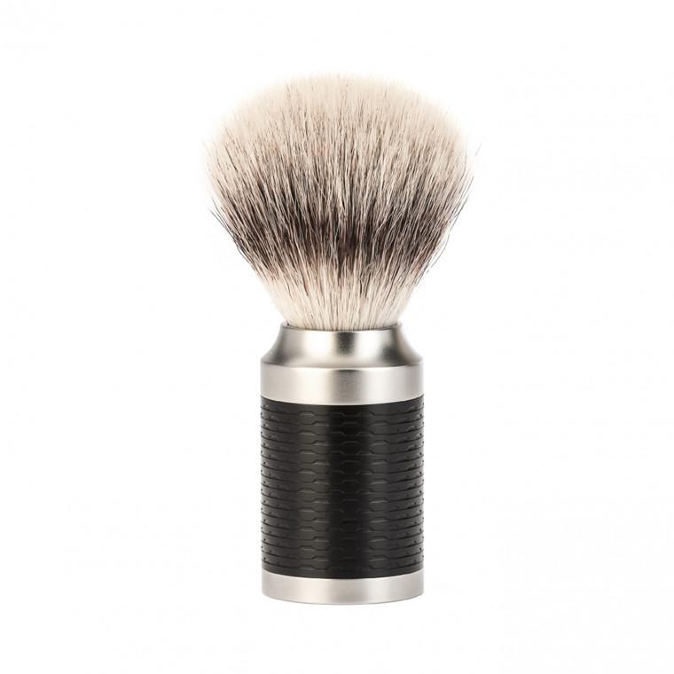 Mühle Silvertip Fiber® Barberkost, 21 mm, Rocca, Rustfrit stål