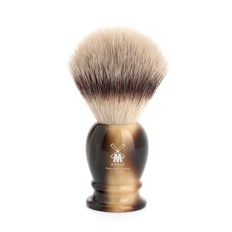 Mühle Silvertip Fibre® Barberkost, 23 mm, Classic, Brunt Horn