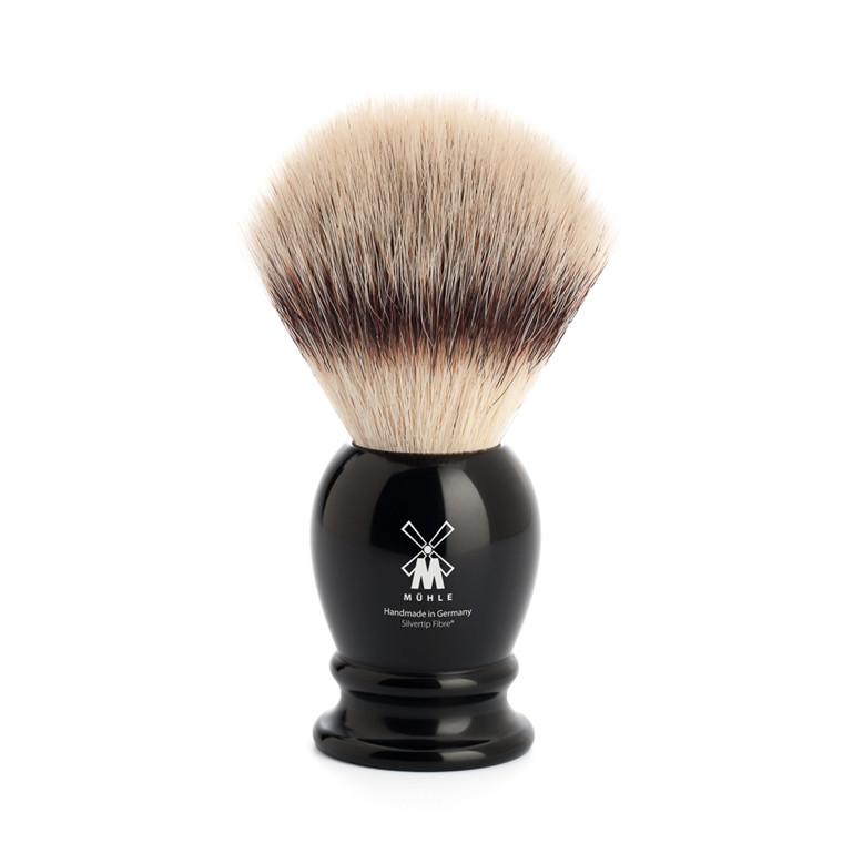 Mühle Silvertip Fibre® Barberkost, 23 mm, Classic, Sort Kunstharpiks