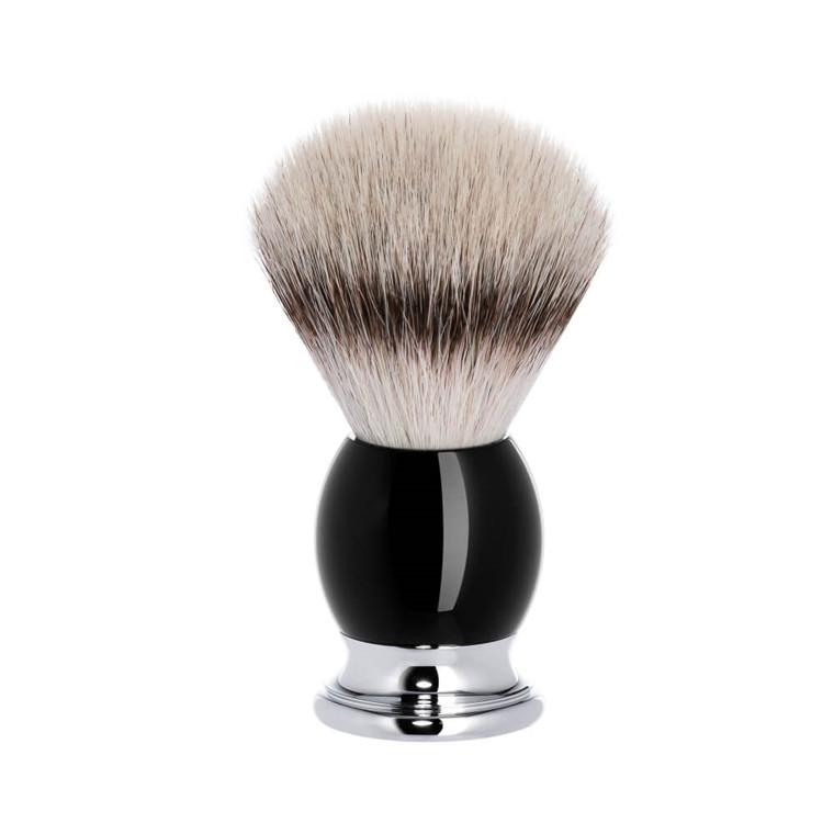 Mühle Silvertip Fibre® Barberkost, 23 mm, Sophist, Sort Kunstharpiks