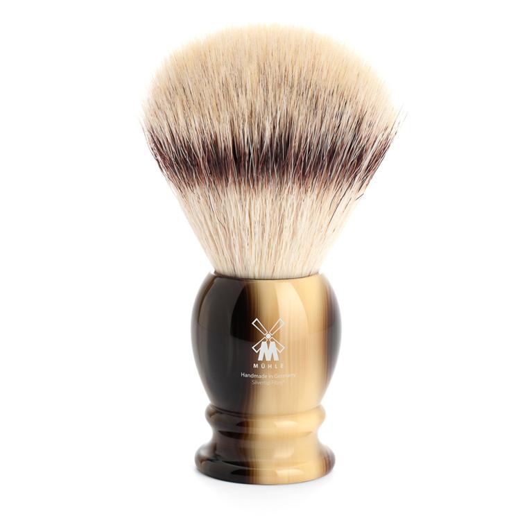 Mühle Silvertip Fibre® Barberkost, 25 mm, Classic, Brunt Horn