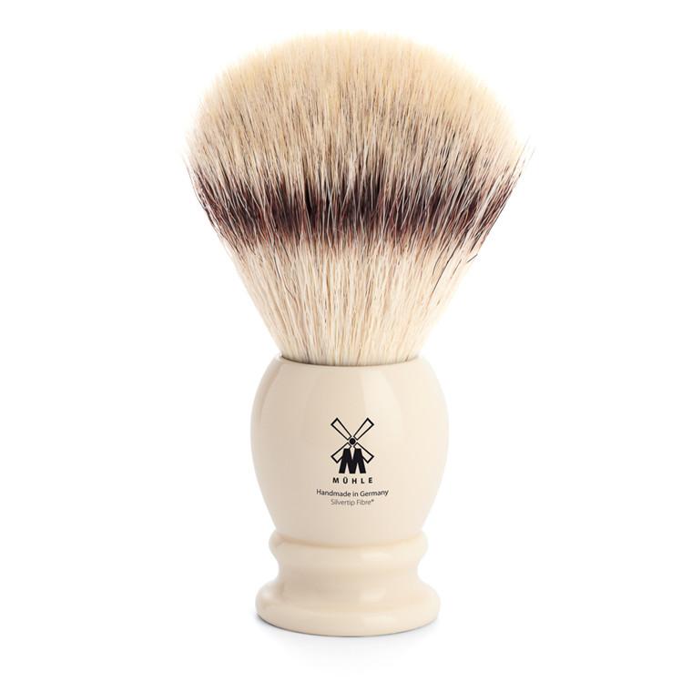 Mühle Silvertip Fibre® Barberkost, 25 mm, Classic, Hvid Kunstharpiks