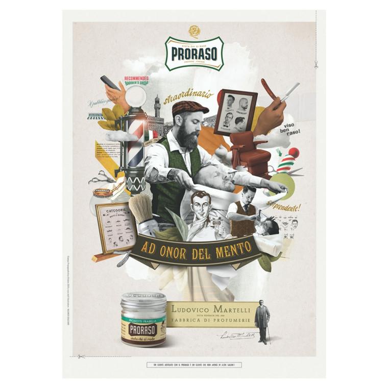 Proraso Plakat, 50 x 70 cm.