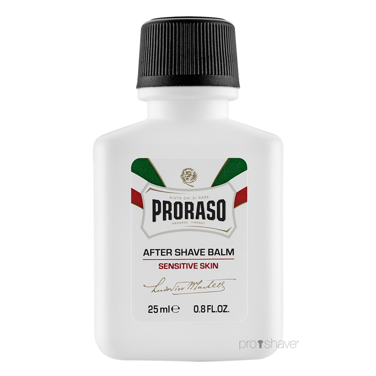 Proraso Aftershave Balm - Sensitive, Grøn Te & Havre, Rejsestørrelse, 25 ml.