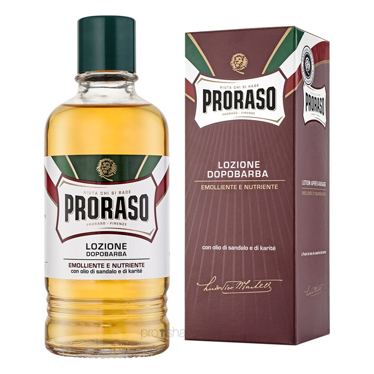 Proraso Aftershave Splash - Nourishing, Sandeltræsolie og Sheasmør, 400 ml. (Salon)