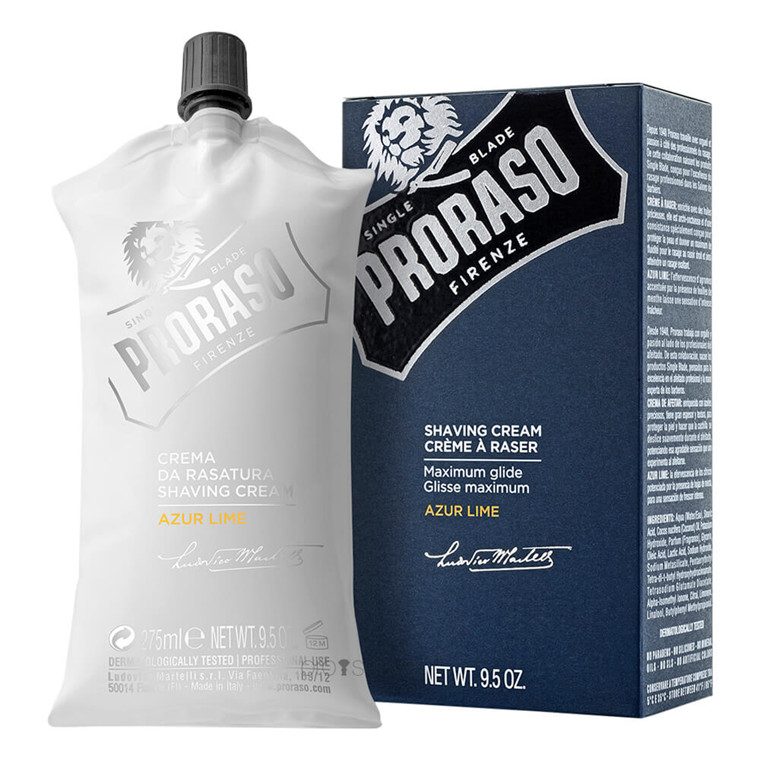 Proraso Barbercreme, Azur Lime, 275 ml.