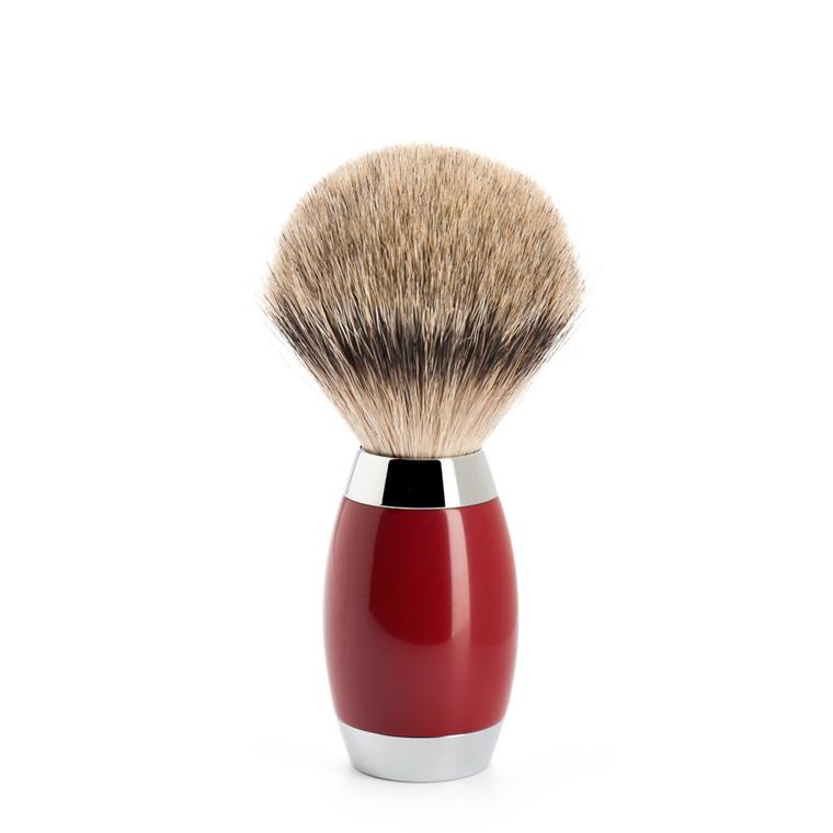 Mühle Silvertip Barberkost, Edition No. 2, 6-lags asiatisk laktræ