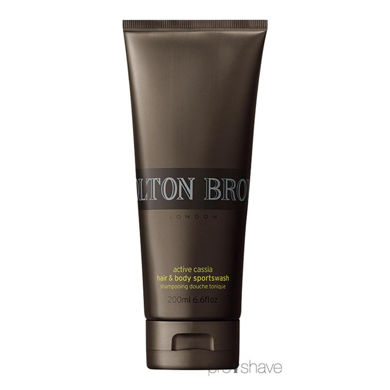 Molton Brown Active Cassia Hair & Body Sportswash, 200 ml.