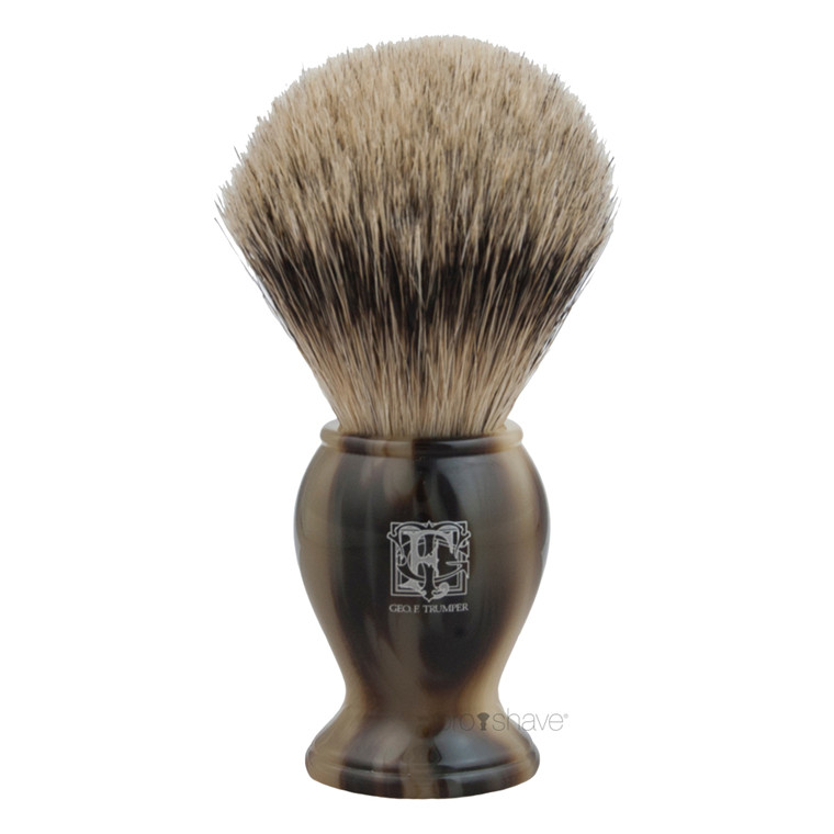Geo F Trumper Barberkost, Super Badger, Medium, PB-Range, Horn