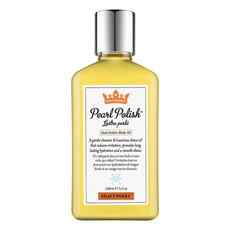 Shaveworks The Cool Fix Pearl Polish Dual Action Body Oil, 156 ml.