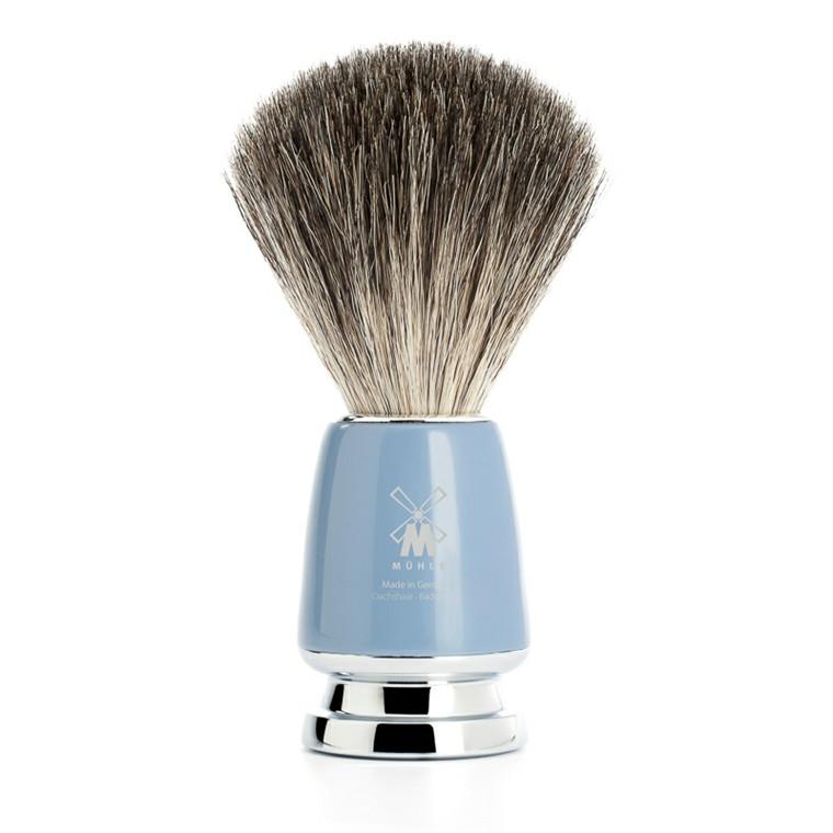 Mühle Pure Badger Barberkost, 21 mm, Rytmo, Fjordblåt Kunstharpiks