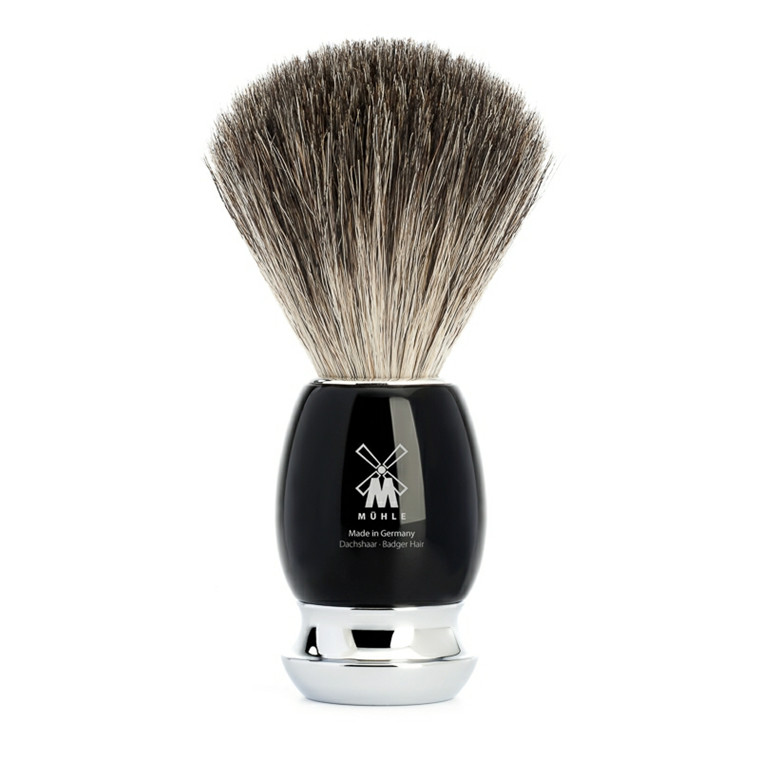 Mühle Pure Badger Barberkost, 21 mm, Vivo, Sort Kunstharpiks