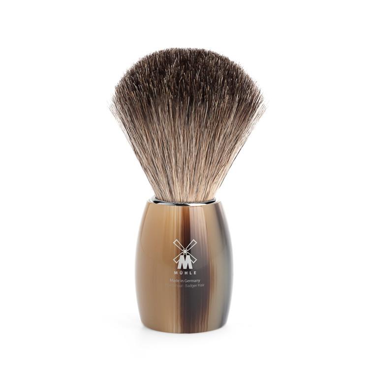 Mühle Pure Badger Barberkost, 21 mm, Brunt Horn