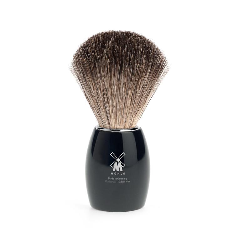 Mühle Pure Badger Barberkost, 21 mm, Sort Kunstharpiks