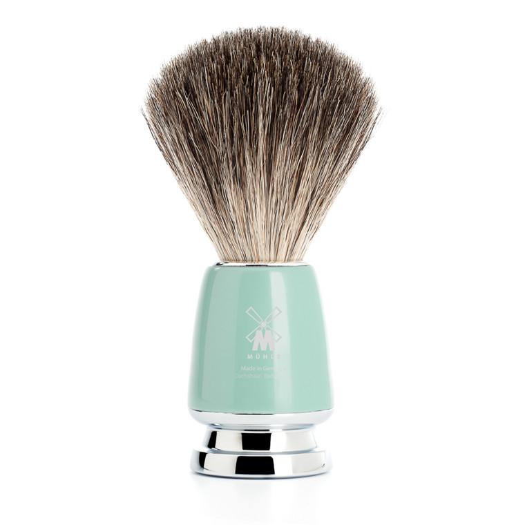 Mühle Pure Badger Barberkost, 21 mm, Rytmo, Mintgrøn