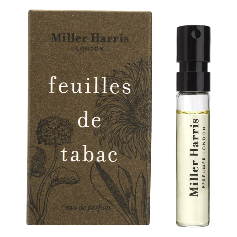 Miller Harris Feuilles de Tabac Eau de Parfum, DUFTPRØVE, 2 ml.