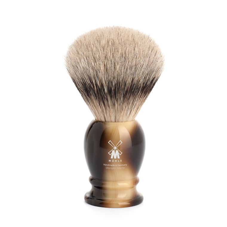Mühle Silvertip Barberkost, 23 mm, Classic, Brunt Horn