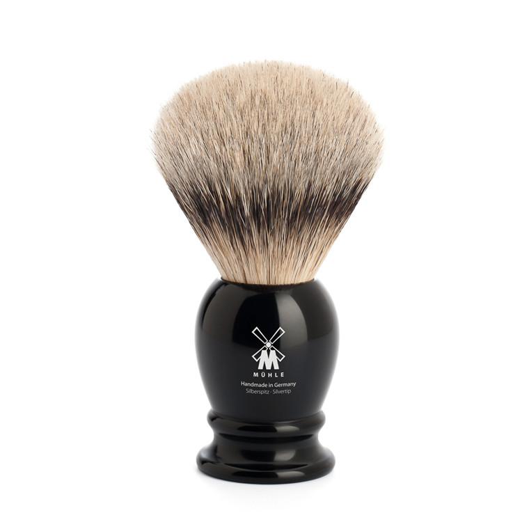 Mühle Silvertip Barberkost, 23 mm, Classic, Sort Kunstharpiks