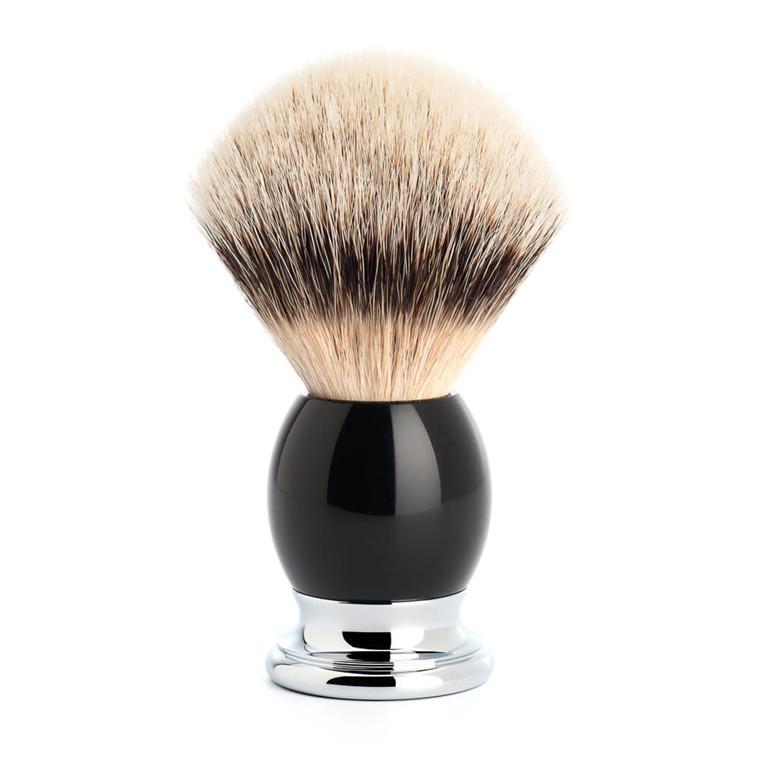 Mühle Silvertip Barberkost, 23 mm, Sophist, Sort Kunstharpiks