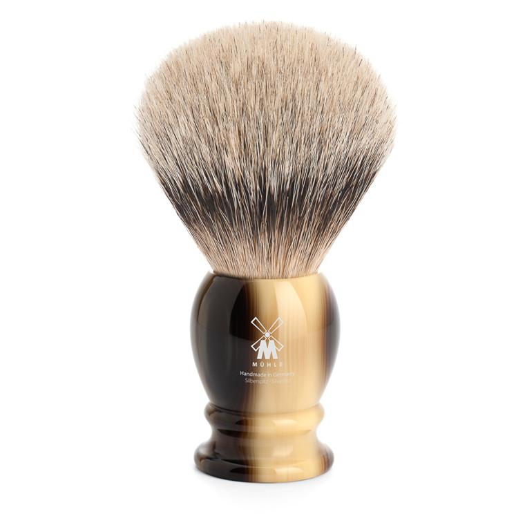 Mühle Silvertip Barberkost, 25 mm, Classic, Brunt Horn
