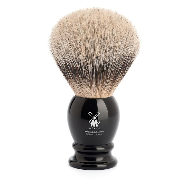 Mühle Silvertip Barberkost, 25 mm, Classic, Sort Kunstharpiks