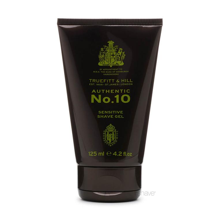 Truefitt & Hill Authentic No. 10 Sensitive Shaving Gel, 125 ml.