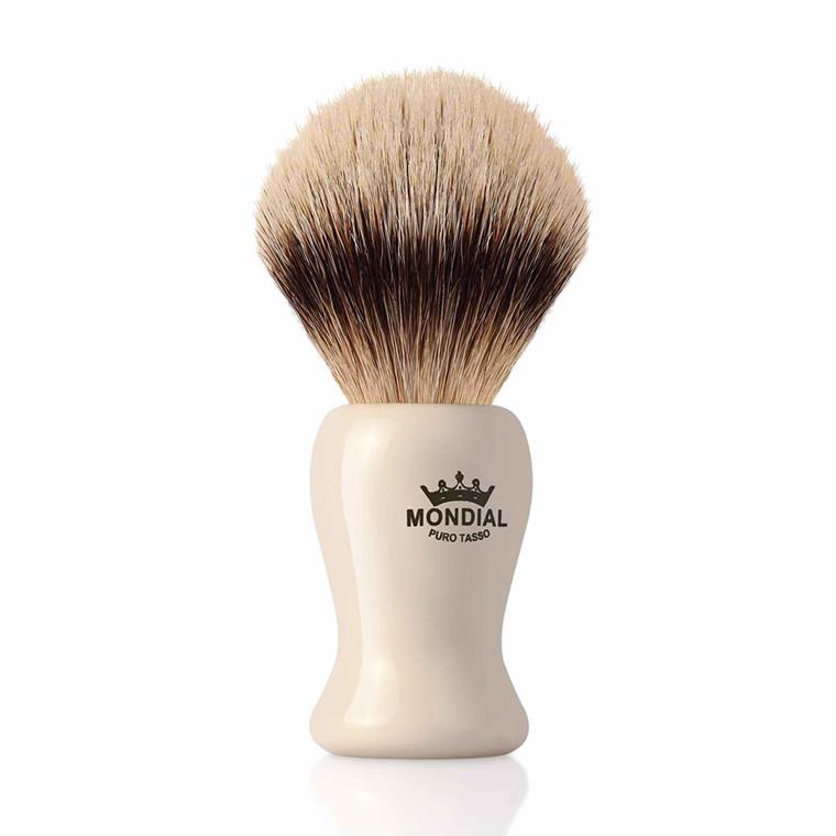 Mondial Silvertip Badger Barberkost, Baylis, 22 mm, Ivory