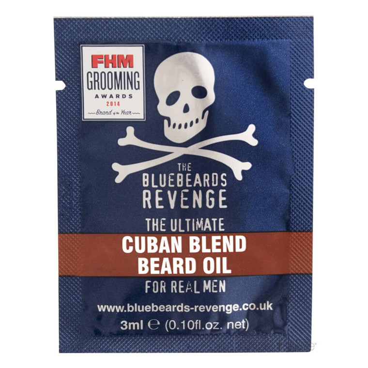 Bluebeards Revenge Cuban Blend Skægolie, 3 ml. SAMPLE