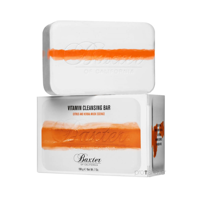 Baxter Of California Vitamin Cleansing Body Bar, Citrus / Herbal musk, 198 gr.