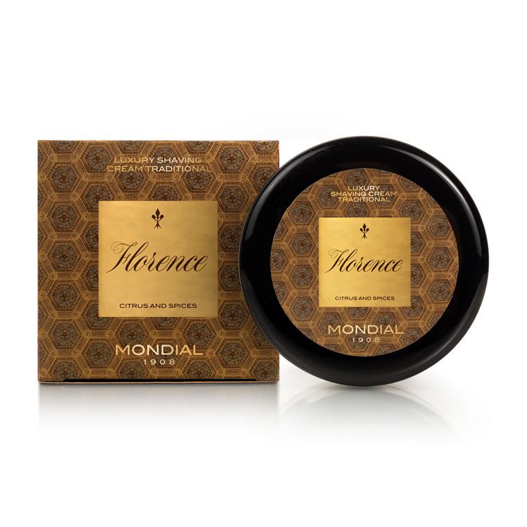 Mondial Florence Luksus Barbercreme i plasticskål, 150 ml.