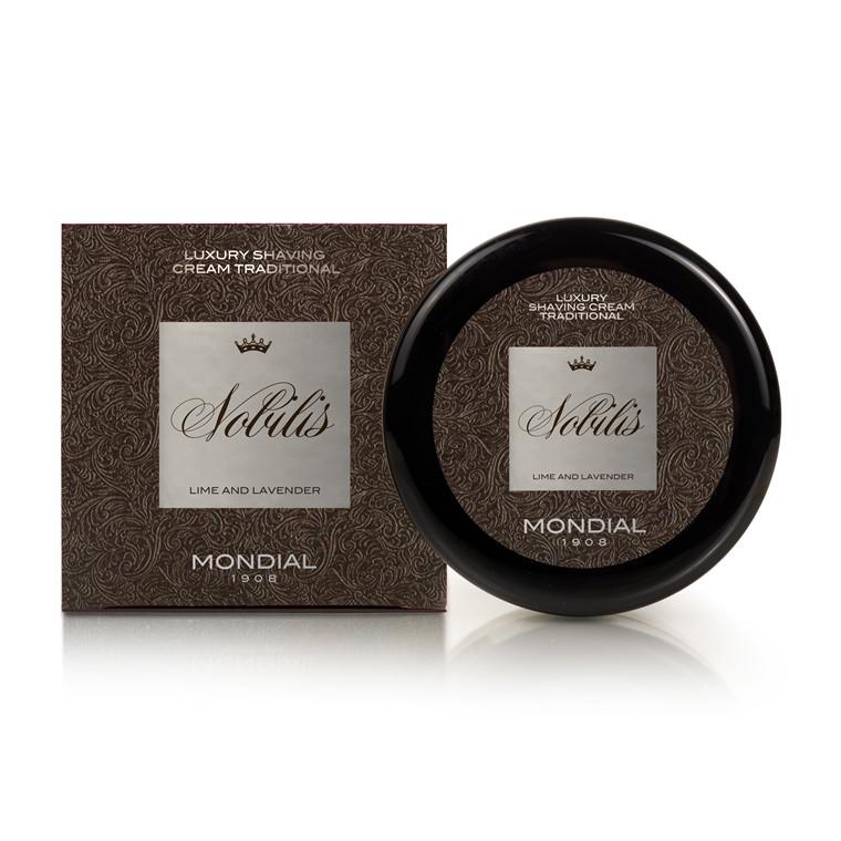 Mondial Nobilis Luksus Barbercreme i plasticskål, 150 ml.