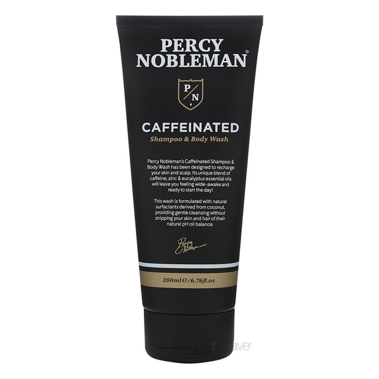 Percy Nobleman Caffeinated Shampoo & Body Wash, 200 ml.
