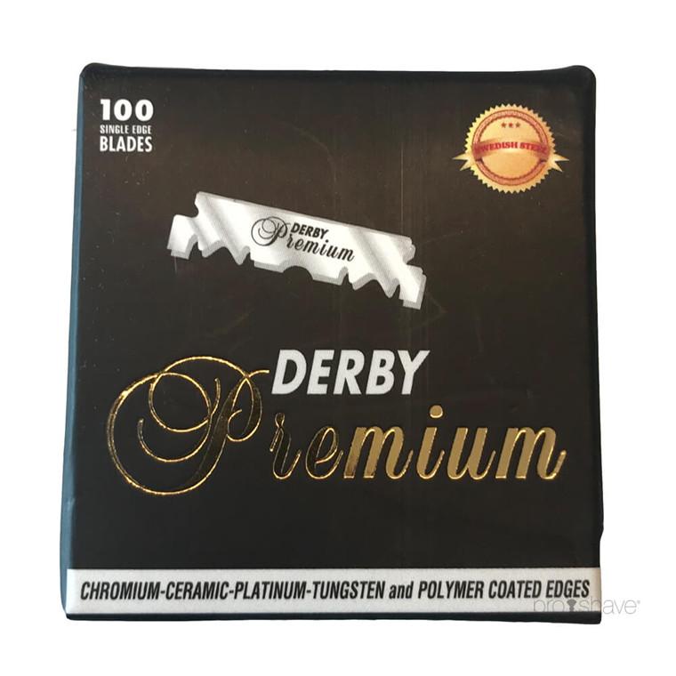 Derby Premium Half Razor Blades, 100 stk.