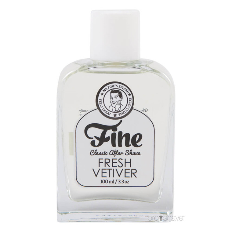 Fine Fresh Vetiver Classic Aftershave, 100 ml.