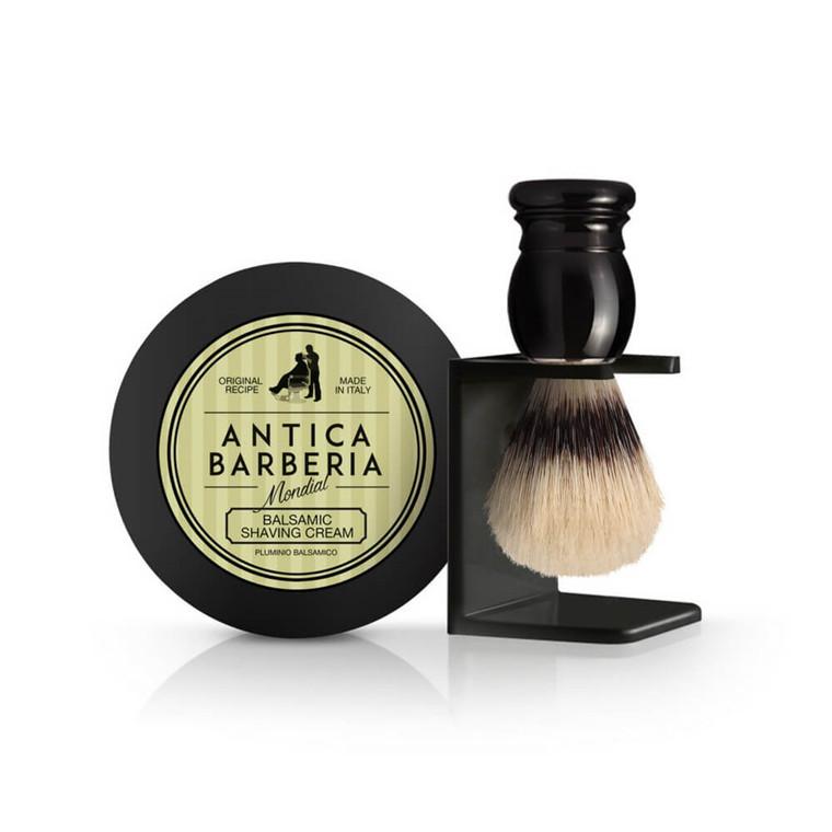 Mondial Antica Barberia Gaveæske med Barberkost, Holder og Barbercreme, Citrus