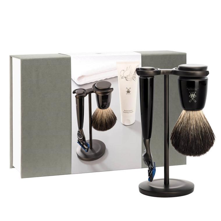 Mühle Gaveæske med Barbersæt, Barbercreme og Håndklæde, Rytmo