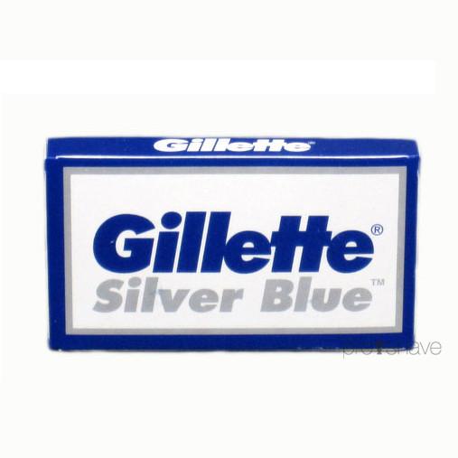 Gillette Silver Blue Razor DE-Barberblade, 2x5 stk. (10 stk.)