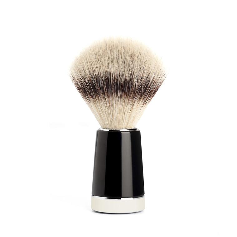 Mühle x HvE Silvertip Fibre® Barberkost, 21 mm, Sort/Ivory Kunstharpiks