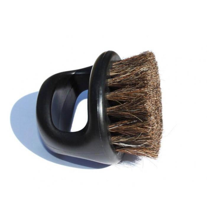 Irving Barber Company Knuckle Brush, Medium/Soft, Black