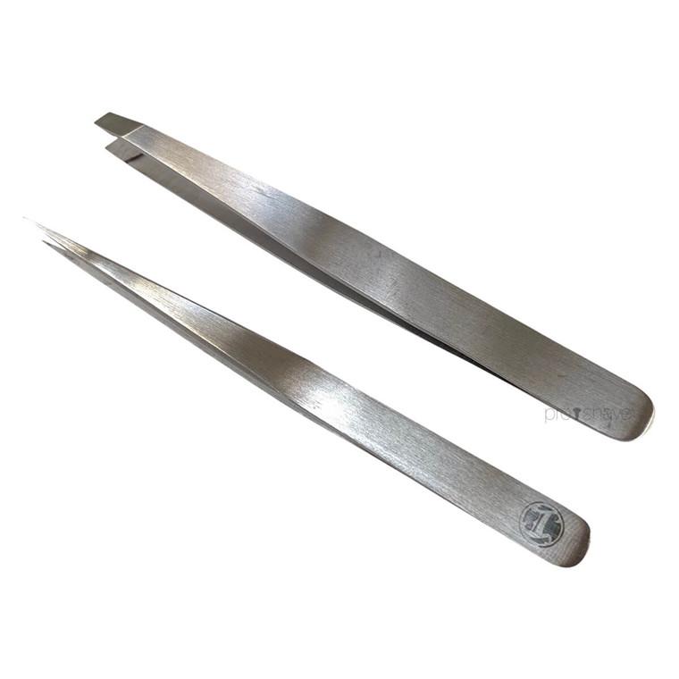 Irving Barber Company Pincetter, Flad og Spids, Stainless Steel