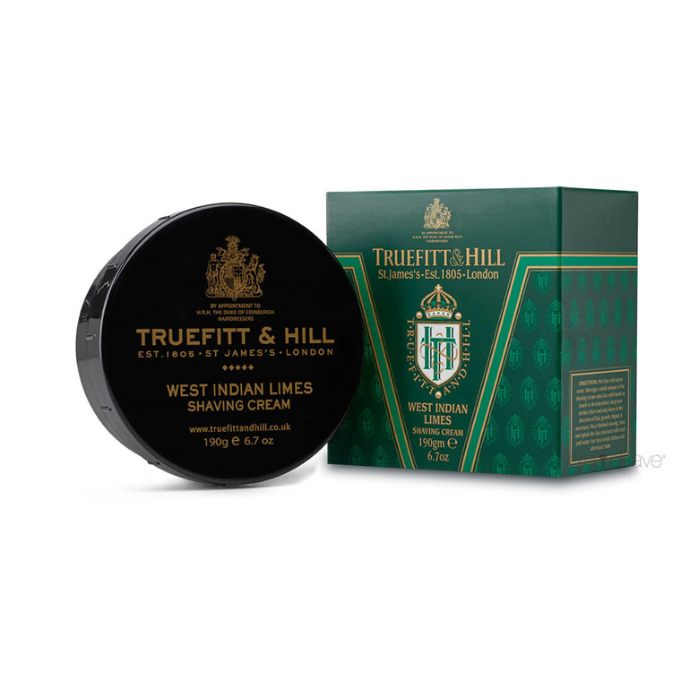 Truefitt & Hill Barbercreme, West Indian Limes, 190 gr.
