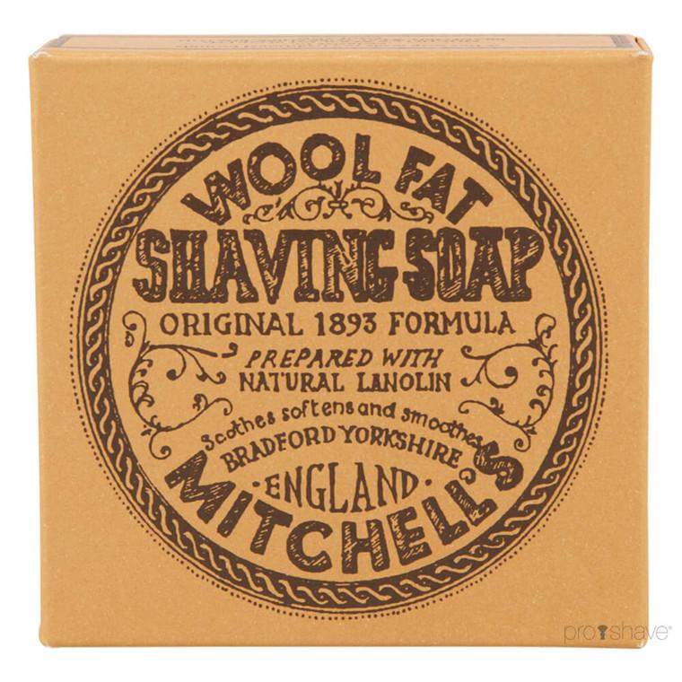 Mitchell's Wool Fat Barbersæbe, Refill, 125 gr.