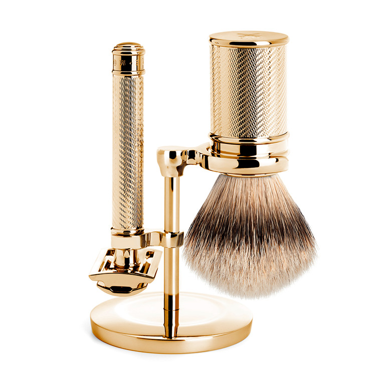 MÜHLE Limited Edition Barbersæt, Traditional, GOLD