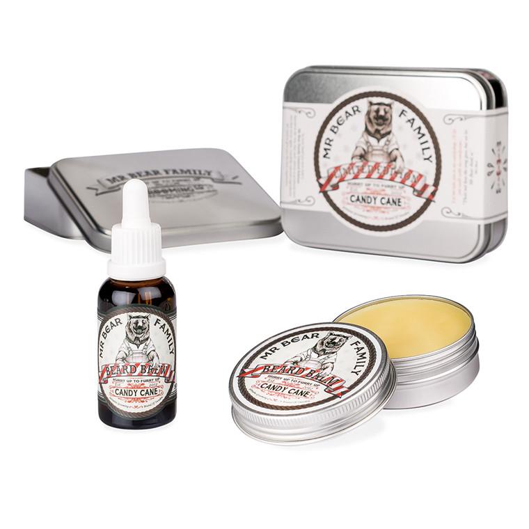 Mr. Bear Candy Cane Skægolie & Skægbalm, Limited Edition