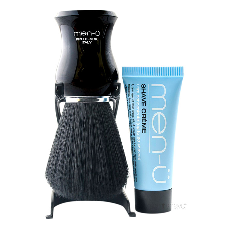 men-ü Pro Black Barberkost og Holder, Sort