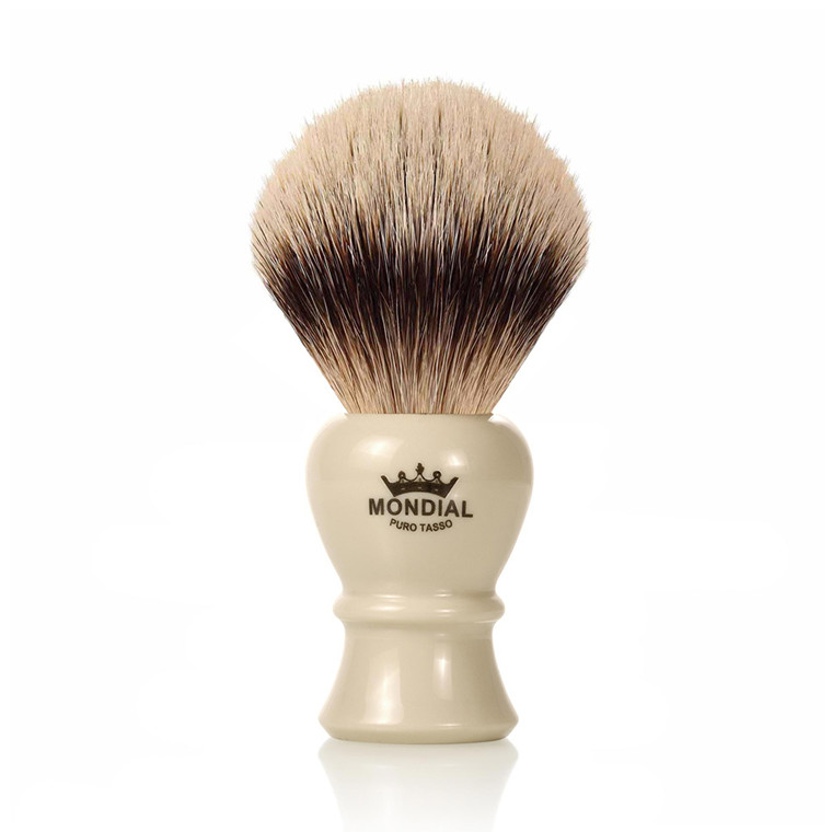 Mondial Silvertip Badger Barberkost, Piccadilly, 22 mm, Ivory