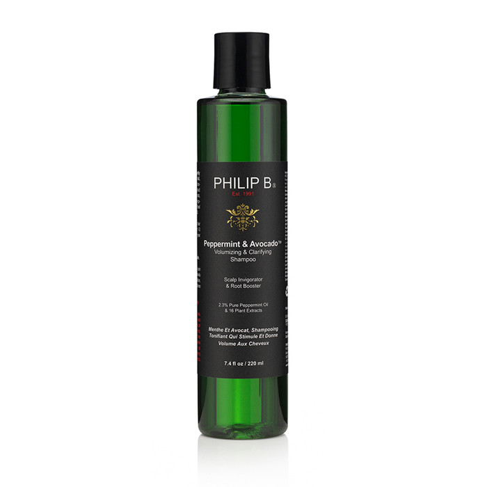 Philip B Peppermint & Avocado Shampoo, Volumizing & Clarifying, 220 ml.